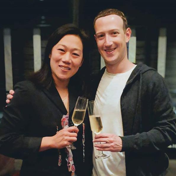 Zuckerberg and his wife Priscilla