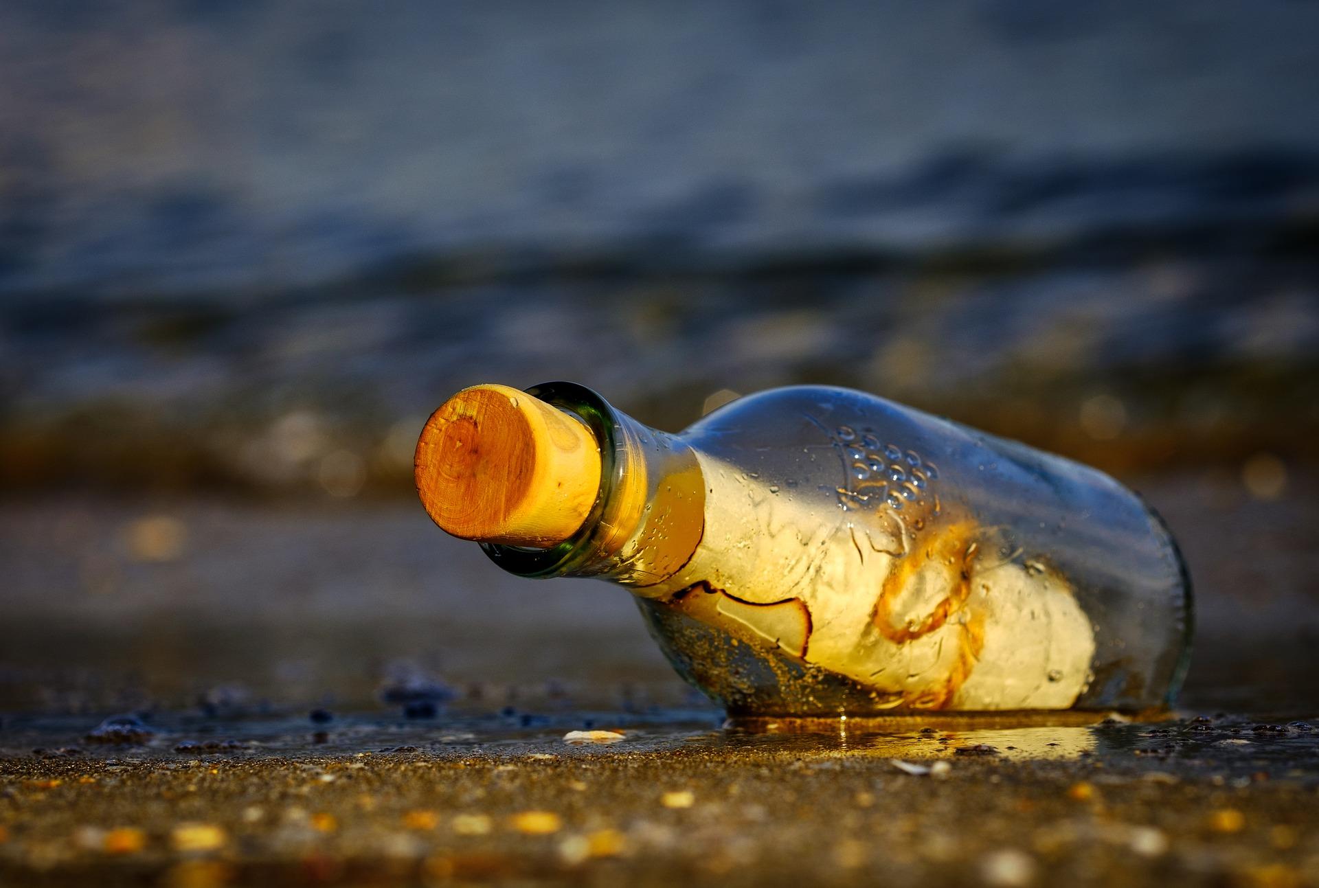 En una isla japonesa hallan un mensaje en una botella