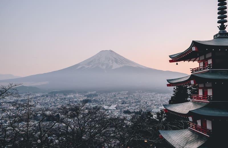 Vistas al monte Fuji