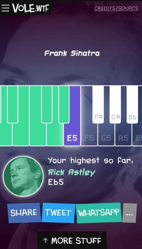 Una web que te reta a cantar como Sinatra o Rick Astley