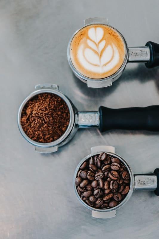 Diferentes partes del proceso cafetero