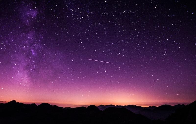 foto del cielo nocturno