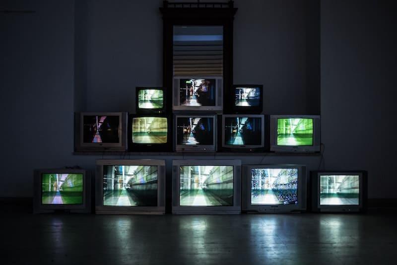 televisiones apiladas